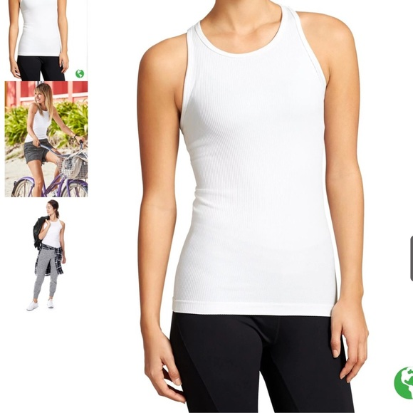 04d026fe0ccaa Athleta Tops - 🍃Athleta White Ribbed Renew Racerback Tank🍃